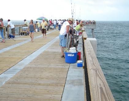Navarre beach pier for Destin fishing pier