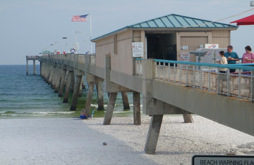 Okaloosa island fishing pier camera for Fishing destin fl
