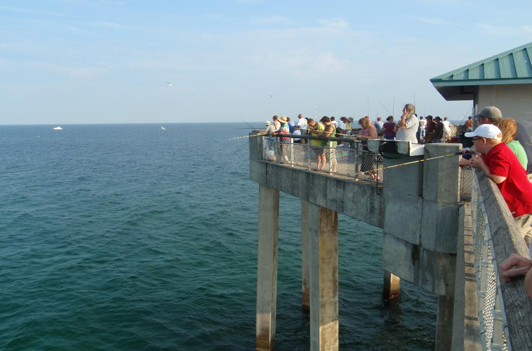 Pier fishing for Florida out of state saltwater fishing license