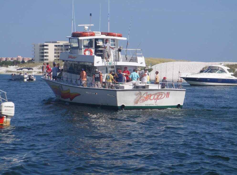 Partyswoop for Party boat fishing destin fl