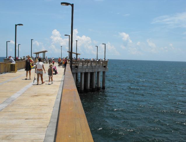 Pier fishing for Gulf shores fishing pier